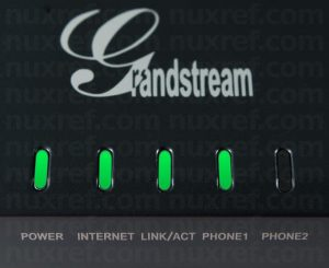 Grandstream Expected Lights